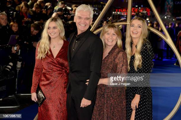 Phillip Schofield Stephanie Lowe Molly Lowe and Ruby Lowe attend 'Fantastic Beasts The Crimes Of Grindelwald' UK Premiere at Cineworld Leicester...