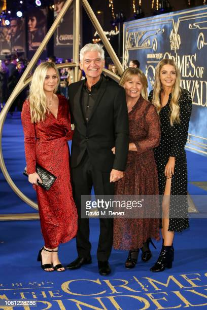 Phillip Schofield Stephanie Lowe Molly Lowe and Ruby Lowe attend the UK Premiere of Fantastic Beasts The Crimes Of Grindelwald at Cineworld Leicester...