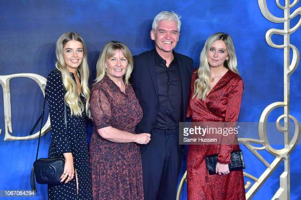 Phillip Schofield Stephanie Lowe Ruby Lowe and Molly Lowe attend the UK Premiere of Fantastic Beasts The Crimes Of Grindelwald at Cineworld Leicester...