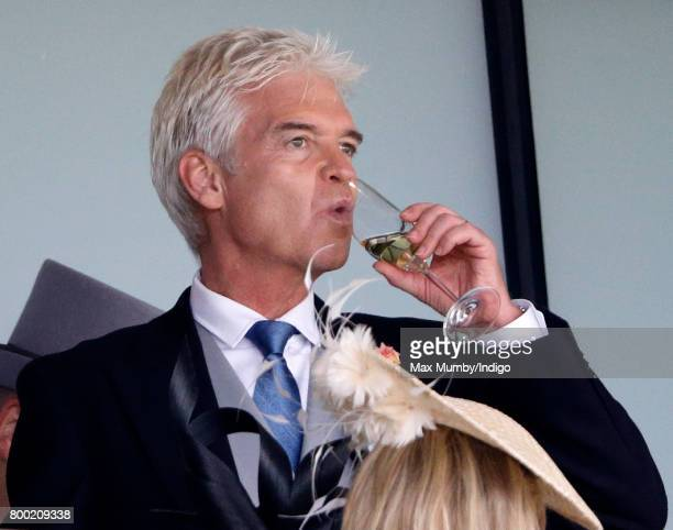 Phillip Schofield watches the racing as he attends day 4 of Royal Ascot at Ascot Racecourse on June 23 2017 in Ascot England