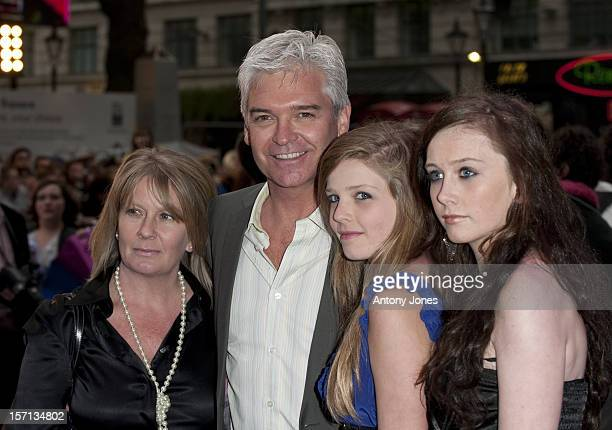Phillip Schofield With Wife Stephanie Schofield And Daughters Ruby And Molly Arrive At The Premiere Of 'Jonas Brothers The 3D Concert Experience' At...