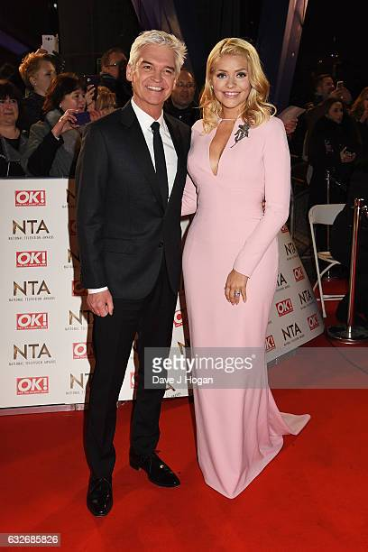 Phillip Schofieldand Holly Willoughby attends the National Television Awards at Cineworld 02 Arena on January 25 2017 in London England