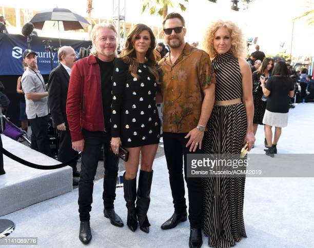 Phillip Sweet Karen Fairchild Jimi Westbrook and Kimberly Schlapman of Little Big Town attend the 54th Academy Of Country Music Awards at MGM Grand...