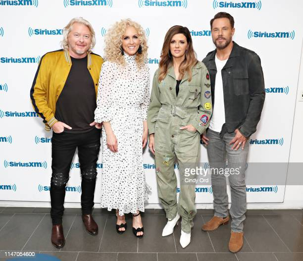 Phillip Sweet Kimberly Schlapman Karen Fairchild and Jimi Westbrook of Little Big Town visit the SiriusXM Studios on May 30 2019 in New York City