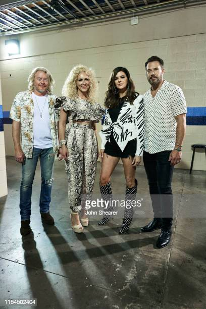 Phillip Sweet Kimberly Schlapman Karen Fairchild and Jimi Westbrook of Little Big Town attend day 2 of the 2019 CMA Music Festival on June 07 2019 in...