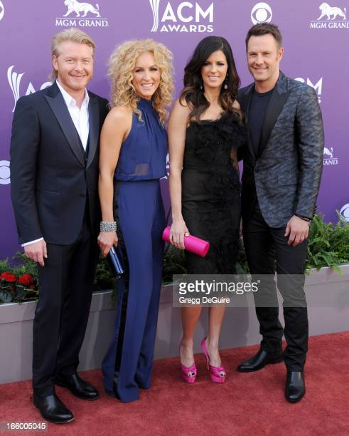 Phillip Sweet Kimberly Schlapman Karen Fairchild and Jimi Westbrook of music group Little Big Town arrive at the 48th Annual Academy Of Country Music...