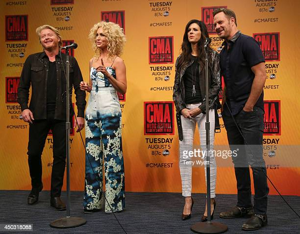 Phillip Sweet Kimberly Schlapman Karen Fairchild and Jimi Westbrook of Little Big Town attend the 2014 CMA Festival on June 8 2014 in Nashville...