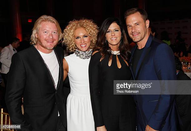 Phillip Sweet Kimberly Schlapman Karen Fairchild and Jimi Westbrook of Little Big Town attend the Food Bank For New York City Can Do Awards Dinner...