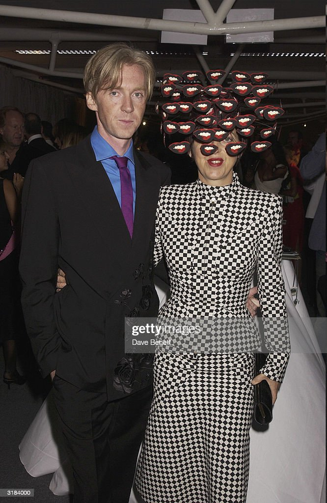 Phillip Treacy and Isabella Blow attend the 2003 Lycra British Style Awards at Old Billinsgate Market on September 26, 2003 in London.