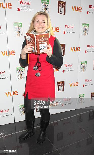 Phillipa Forrester attends Diary of a Wimpy Kid UK dvd Premiere at Vue Westfield on December 02 2012 in London England