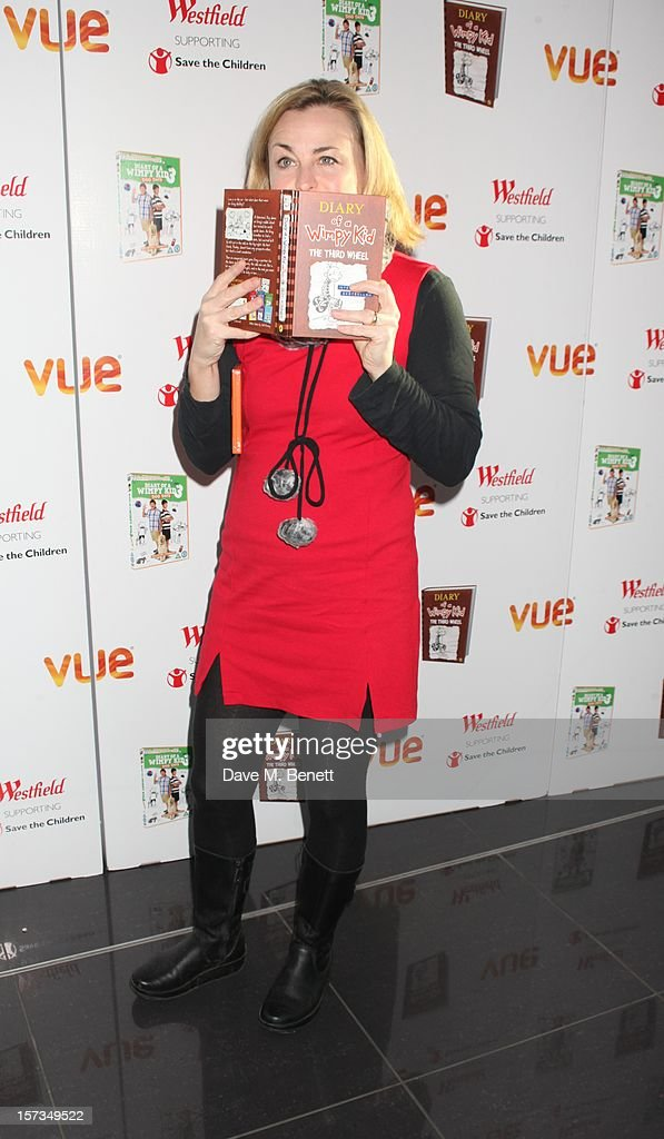 Phillipa Forrester attends 'Diary of a Wimpy Kid' UK dvd Premiere at Vue Westfield on December 02, 2012 in London, England.