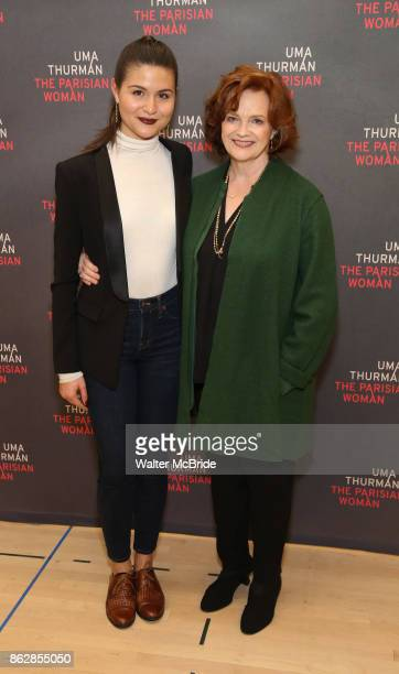 Phillipa Soo and Blair Brown attend the Meet Greet Photo Call for the cast of Broadway's 'The Parisian Woman' at the New 42nd Street Studios on...