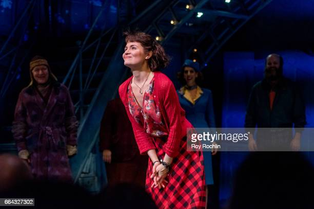 Phillipa Soo attends the 'Amelie' Broadway Opening Night Arrivals and Curtain Call at Walter Kerr Theatre on April 3 2017 in New York City