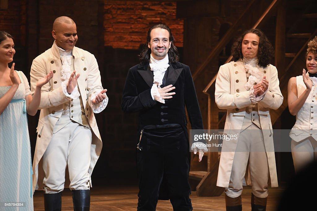 "Lin-Manuel Miranda's Final Performance In ""Hamilton"" On Broadway : News Photo"