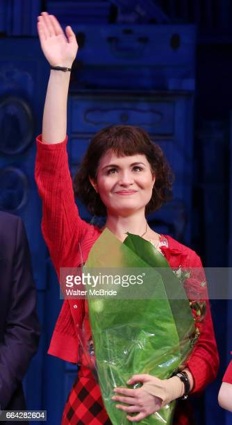 Phillipa Soo during the Broadway Opening Night Performance Curtain Call for 'Amelie' at the Walter Kerr Theatre on April 3 2017 in New York City