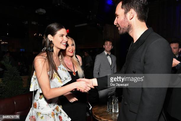 Phillipa Soo Lady Monika Bacardi and Andrea Iervolino attend the 2018 Tribeca Film Festival afterparty for 'Blue Night' hosted by Nespresso at The...