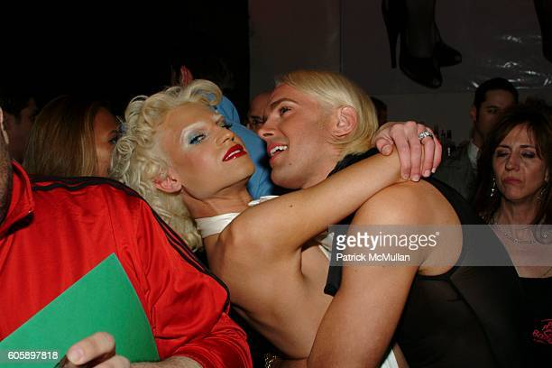 Phillipe Blond and David Blond attend AMANDA LEPORE DOLL After Party at Happy Valley on April 11 2006 in New York City
