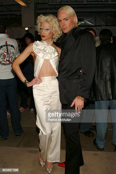 Phillipe Blond and David Blond attend AMANDA LEPORE DOLL cocktail party at Jeffrey on April 11 2006 in New York City