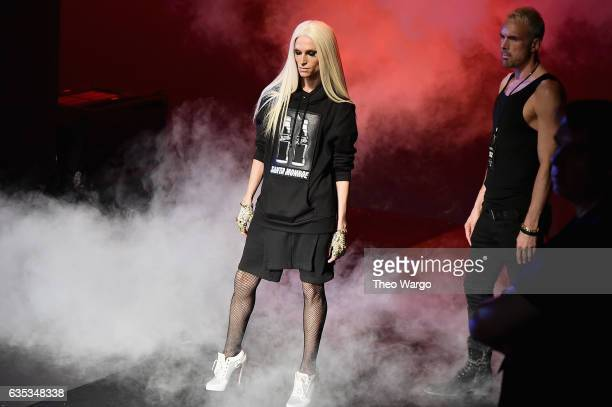 Phillipe Blond and David Blond walk the runway at the The Blonds collection during New York Fashion Week The Shows at Gallery 1 Skylight Clarkson Sq...