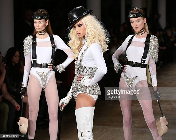 Phillipe Blond and models walk the runway during The Blonds fall 2015 fashion show during MercedesBenz Fashion Week Fall 2015 at Milk Studios on...