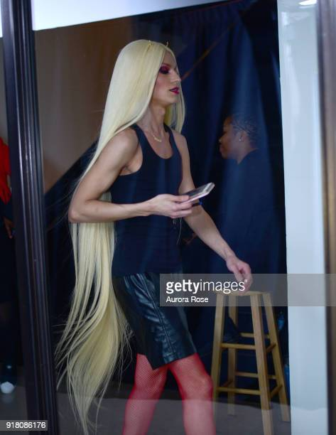 Phillipe Blond Backstage at The Blonds Runway show at Spring Studios on February 13 2018 in New York City