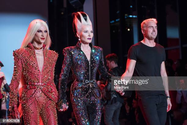Phillipe Blond Daphne Guiness and Phillipe Blond walk the runway at at The Blonds fashion show during New York Fashion Week The Shows at Spring...