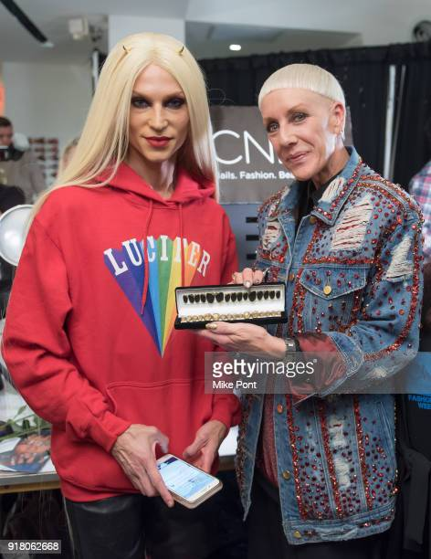 Phillipe Blond is seen backstage at The Blonds fashion show during New York Fashion Week The Shows at Spring Studios on February 13 2018 in New York...