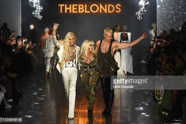 Phillipe Blond Lil' Kim and David Blond walk the runway for The Blonds fashion show during New York Fashion Week The Shows at Gallery I at Spring...