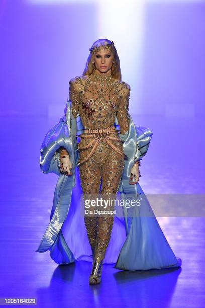Phillipe Blond walks runway for The Blonds during New York Fashion Week The Shows at Gallery I at Spring Studios on February 09 2020 in New York City