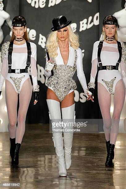 Phillipe Blond walks the runway at The Blonds fashion show during MADE Fashion Week Fall 2015 at Milk Studios on February 18 2015 in New York City