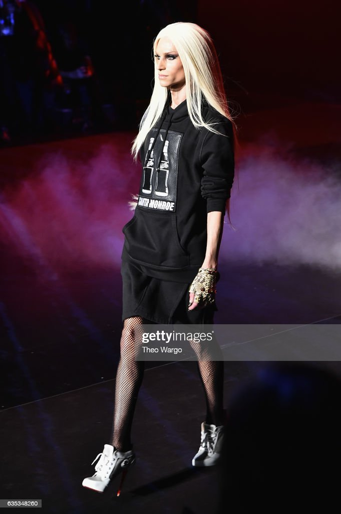 Phillipe Blond walks the runway at the The Blonds collection during, New York Fashion Week: The Shows at Gallery 1, Skylight Clarkson Sq on February 14, 2017 in New York City.
