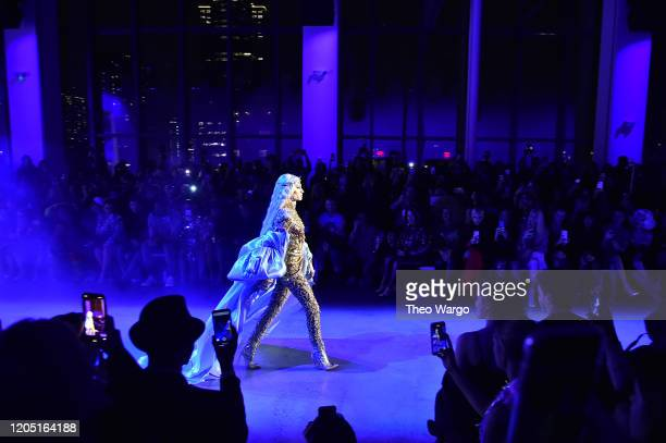 Phillipe Blond walks the runway for The Blonds during New York Fashion Week: The Shows at Gallery I at Spring Studios on February 09, 2020 in New...