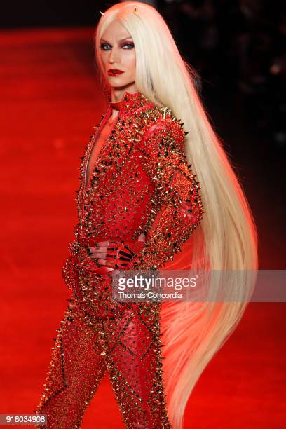 Phillipe Blond walks the runway wearing The Blonds Fall 2018 Collection with makeup by Kabuki Magic and the MAC Pro team hair by Kien Hoang and Oribe...