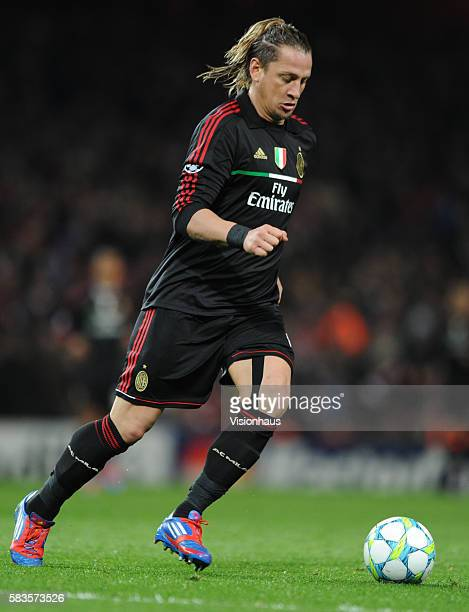 Phillipe Mexes of AC MIlan during the UEFA Champions League First Knockout Round 2nd leg match between Arsenal and AC Milan at the Emirates Stadium...