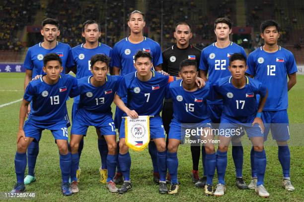 Phillipines team group photo during the AFC U23 Championship qualifier between Malaysia and Philippines at Shah Alam Stadium on March 22 2019 in Shah...