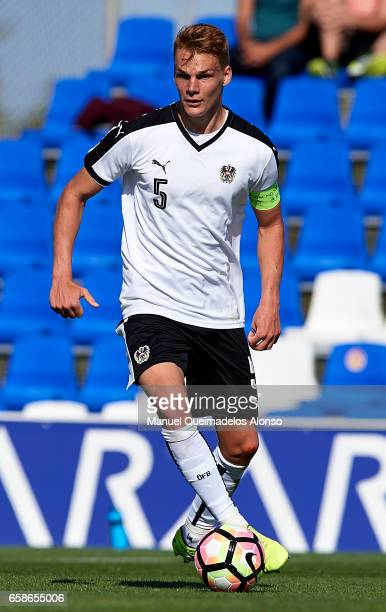 Phillipp Lienhart of Austria in action during the international friendly match between Austria U21 and Netherlands U21 at Pinatar Arena on March 27...