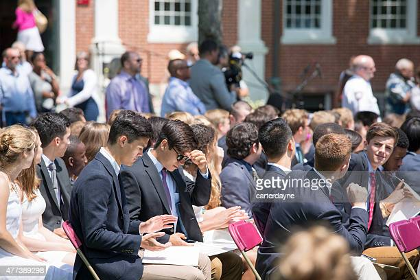 phillips exeter academy graduation 2015, college prep boarding school - boarding school stock photos and pictures
