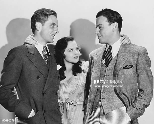 Phillips Holmes Sylvia Sidney and Norman Foster play the respective roles of Dan Patricia and Hal in David Burton's 1931 film Confessions of a CoEd