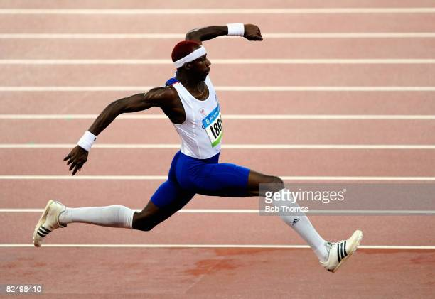 Phillips Idowu of Great Britain competes in the Men's Triple Jump Final held at the National Stadium during Day 13 of the Beijing 2008 Olympic Games...