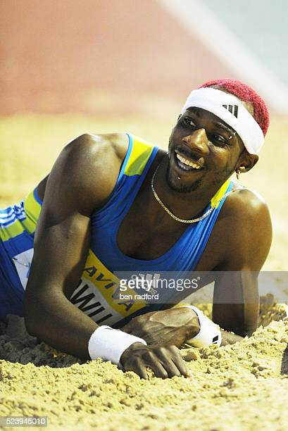 Phillips Idowu of Great Britain competing in the Triple Jump during the Samsung Diamond League Athletics meeting at Crystal Palace Stadium in London,...