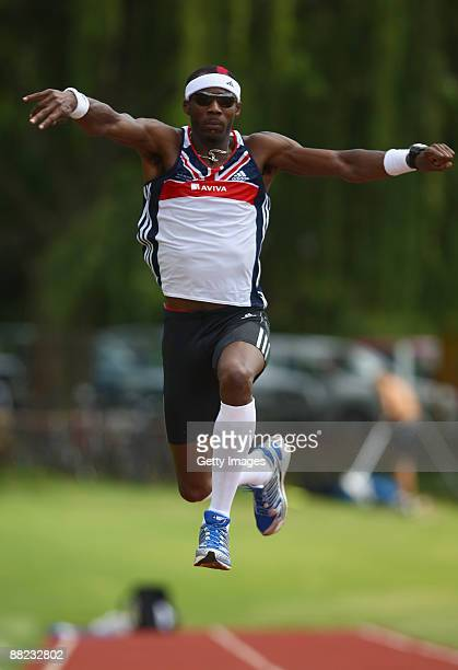 Phillips Idowu prepares for the 2009 athletics season at the Aviva GB and NI Team UKA Preparation Camp at the High Performance Institute of Sport on...