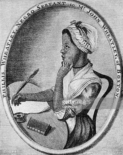 Phillis Wheatley African/ Phillis Wheatley African/ American poet 1753 – 5 December 1784 As illustrated by Scipio Moorhead on the Front page of her...