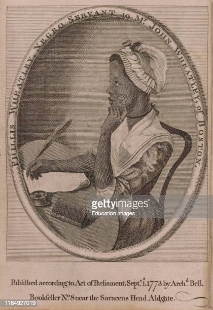 Phillis Wheatley first Published African American Female Poet Illustration 1773