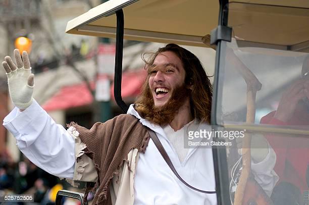 philly jesus - benjamin franklin parkway fotografías e imágenes de stock