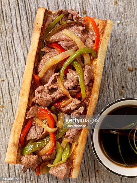 Philly Steak Sandwich with Peppers and Au Jus