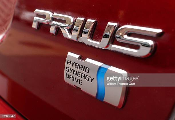 PhillyCarShare Prius states that it's a hybrid synergy drive vehicle April 8 2004 in Philadelphia Pennsylvania Philadelphia is selling off hundreds...