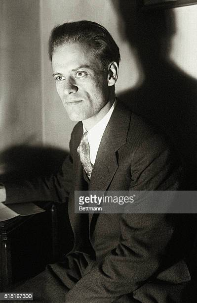 Philo T Farnsworth television wizard of San Francisco who plans to inaugurate a transmitting station near New York for the radiation of pictures and...