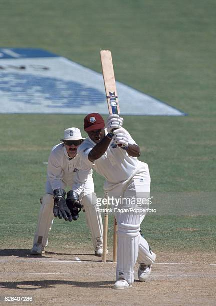 Philo Wallace batting for West indies during the 6th Test match between West Indies and England at the Antigua Recreation Ground St John's Antigua...
