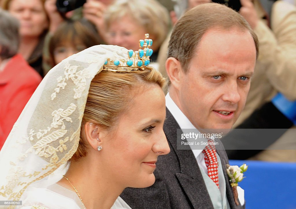 Duc de Vendome and Philomena de Tornos Celebrate Wedding in Senlis : News Photo