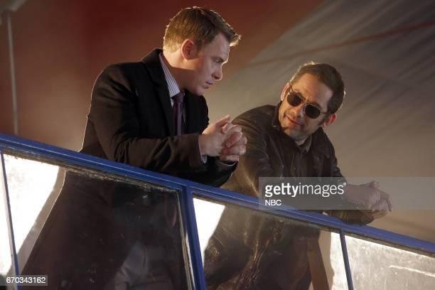 "Philomena"" Episode 418 -- Pictured: Diego Klattenhoff as Donald Ressler, Enrique Muriciano as Julian Gale --"